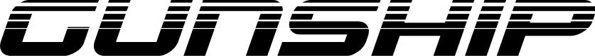 Preview image for Gunship Halftone Italic Italic