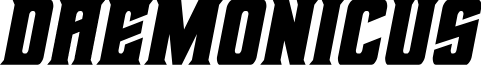 Daemonicus Semi-Italic