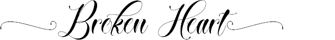 Preview image for Broken Heart Font