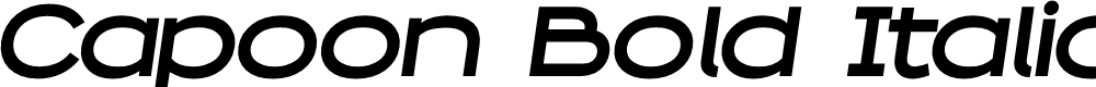Preview image for Capoon PERSONAL USE Bold Italic