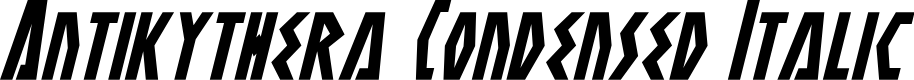 Preview image for Antikythera Condensed Italic