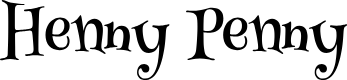Preview image for Henny Penny Font