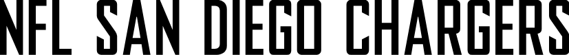 Preview image for NFL San Diego Chargers Font