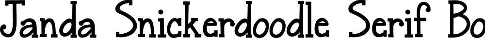 Preview image for Janda Snickerdoodle Serif Bold