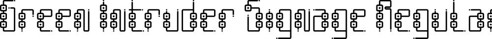 Preview image for Green Intruder Signage Regular Font