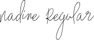 Preview image for Nadine Regular Font