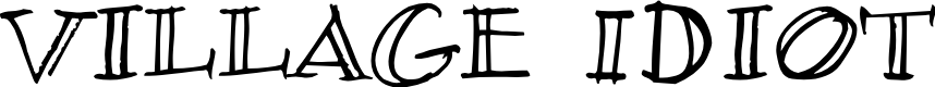 Preview image for Village Idiot BB Font