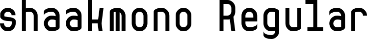 Preview image for shaakmono Regular Font