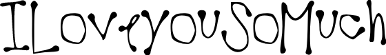 Preview image for ILoveyouSoMuch Font