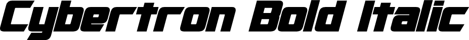 Preview image for Cybertron Bold Italic