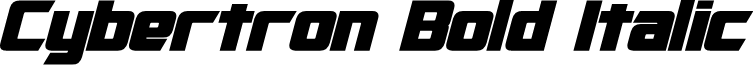 Cybertron Bold Italic