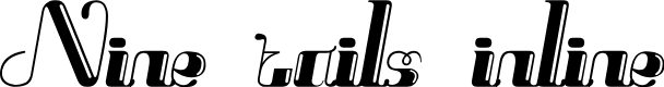 Preview image for Nine tails inline Font