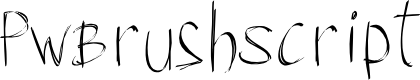 Preview image for PWBrushScript Font