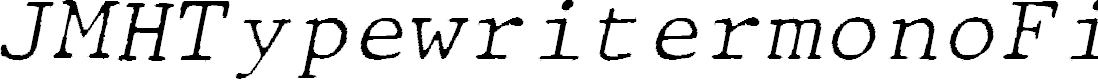 Preview image for JMHTypewritermonoFine-Italic