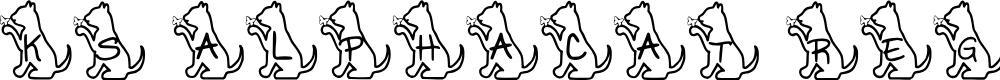 Preview image for Ks Alphacat Regular Font