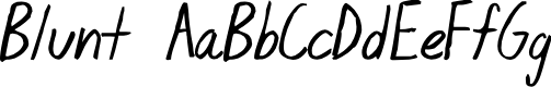 Preview image for Blunt Font