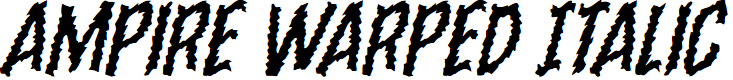 Preview image for Ampire Warped Italic