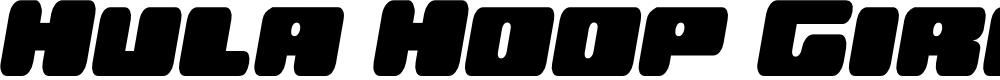 Preview image for Hula Hoop Girl Semi-Italic