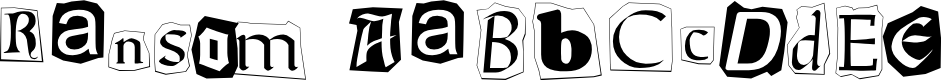 Preview image for Ransom Font