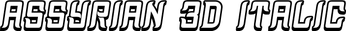 Assyrian 3D Italic