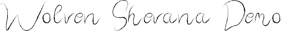 Wolven Shevana Demo font