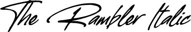 The Rambler Italic