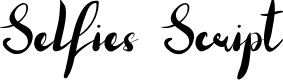 Preview image for Selfies Script Font