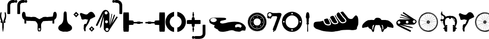 Preview image for TT_Road Bike Regular Font