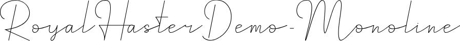 Preview image for RoyalHasterDemo-Monoline Font