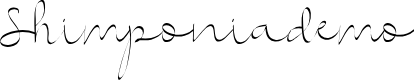 Preview image for Shimponiademo Font
