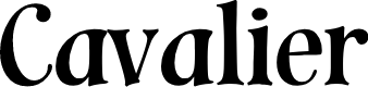 Preview image for Cavalier Font