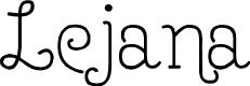 Preview image for Lejana Font
