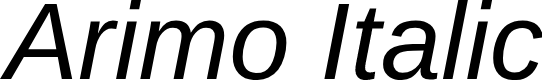 Preview image for Arimo Italic