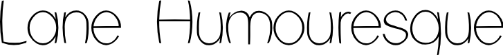Preview image for Lane Humouresque Font