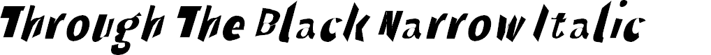 Preview image for Through The Black Narrow Italic