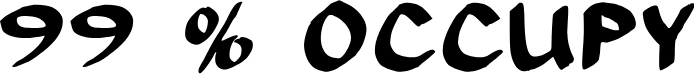 Preview image for 99 % OCCUPY Font
