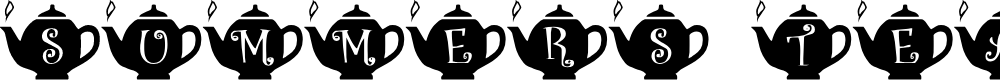 Preview image for Summer's Teapots Font
