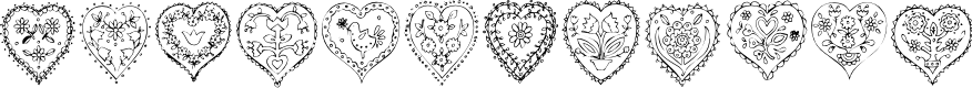 Preview image for KR All Heart Font