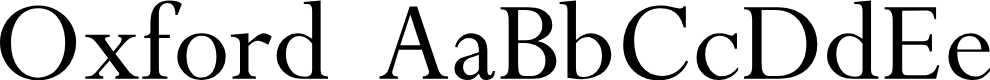 Preview image for Oxford Font