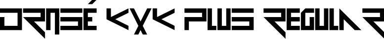 Preview image for Drosé KXK Plus Regular Font