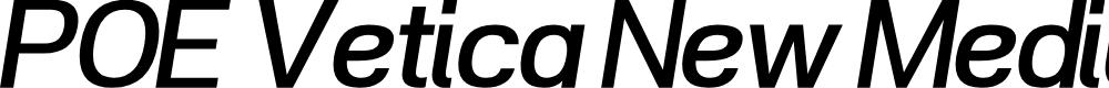 Preview image for POE Vetica New Medium Italic