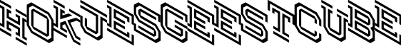 Hokjesgeestcube font