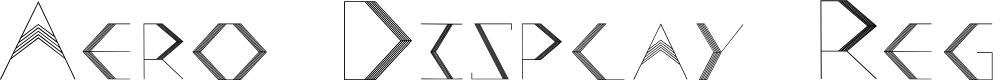 Preview image for Aero Display Regular Font