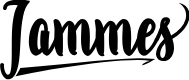 Preview image for Jammes  Font