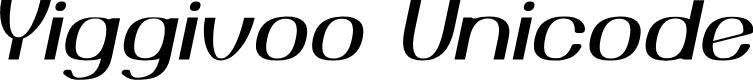 Preview image for Yiggivoo Unicode  Italic