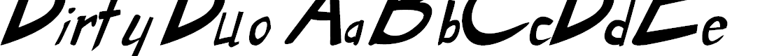 Preview image for Dirty Duo Bold Italic