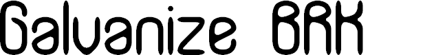 Preview image for Galvanize BRK Font