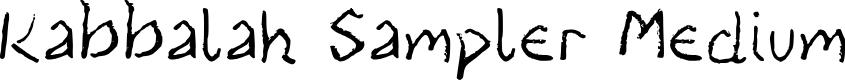 Preview image for Kabbalah Sampler Medium Font