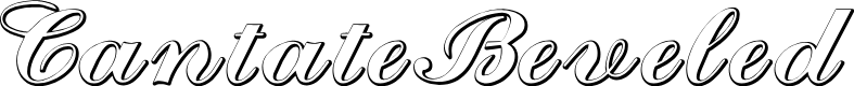 Preview image for CantateBeveled Font