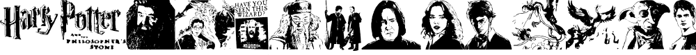 Preview image for Harry Potter and the Dingbats Font
